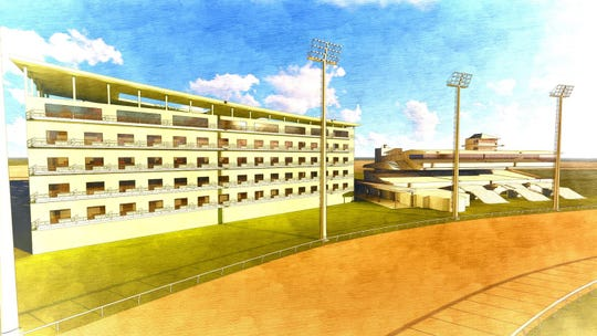 Ellis Entertainment's long-range plans call for the construction of a hotel where the current clubhouse is located.
