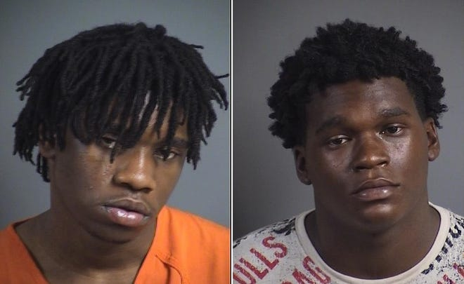 Pacific Achiza, 18, and Rasean Leeontae Yates, 18, face willful injury charges after police say they assaulted someone in North Liberty on July 18, 2019.