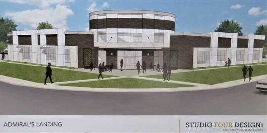 This artist's rendering shows the new building from the intersection of Kingston Pike and Campbell Station Road. The rotunda would be an atrium.