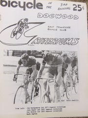 A program from a 1974 bike race in Knoxville