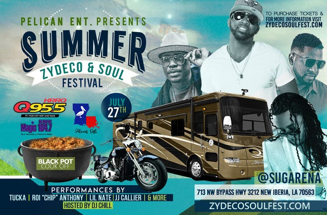 First-ever Summer Zydeco & Soul Festival, at SugArena July 27th, set to celebrate Creole heritage with live music, food and fun.