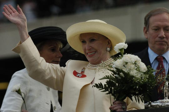 """This is a home-bred, and this means so much to me,"" said Marylou Whitney, owner of 2004 Belmont Stakes winner Birdstone. ""I'm sorry I'm so emotional."""