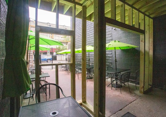 The foyer at Meat Southern B.B.Q. & Carnivore Cuisine is getting updated as part of the restaurant's expansion in Lansing's Old Town on Friday, July 19, 2019.