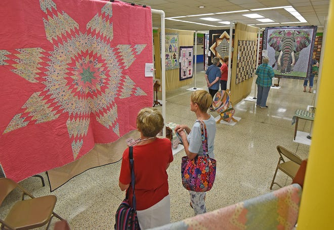 """Sewing and craft enthusiasts enjoyed the exhibits at the Mansfield Millennium Quilt Guild's 2019 Quilt Show, """"Sew A Memory,"""" held Friday and Saturday at Malabar Middle School."""