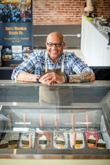 Hugh Balthrop is the owner and head gelato maker at Sweet Magnolia Gelato Co. Sweet Magnolia opened their first retail shop this summer in Puck Food Hall in downtown Memphis.