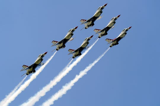 The U.S. Air Force Thunderbirds take wing over Milwaukee again this weekend for the 2019 Milwaukee Air & Water Show over the lakefront north of downtown.