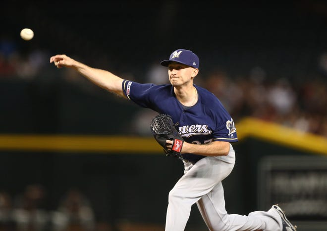 Brewers pitcher Zach Davies pitched seven innings Thursday night and gave up just one run.