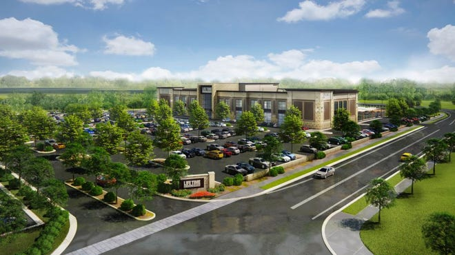 This is a rendering of Life Time at 17585 Golf Parkway, Brookfield, which is planning to open in fall 2019.