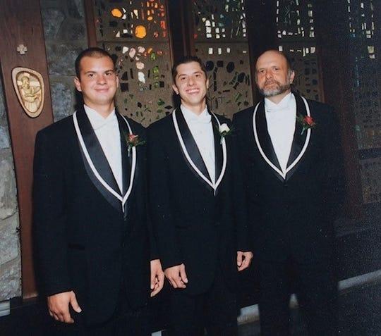 Stephen Matasic, right, celebrates his son's wedding.