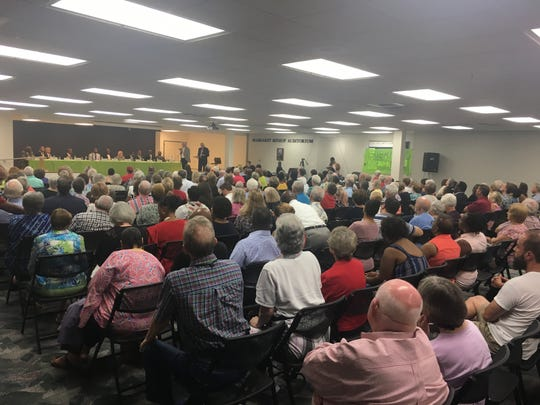 Hundreds showed at Peter Crump Community Center to hear the 13 mayoral candidates speak on Thursday, July 18, 2019.