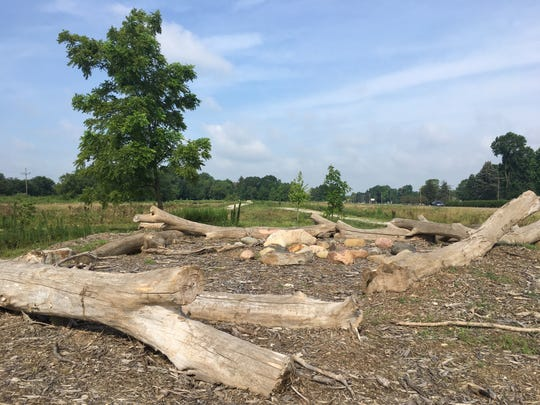 The nature playground at Dutro-Ernst Woods, a 33-acre nature preserve neighboring the proposed Waelz Sustainable Products recycling facility.