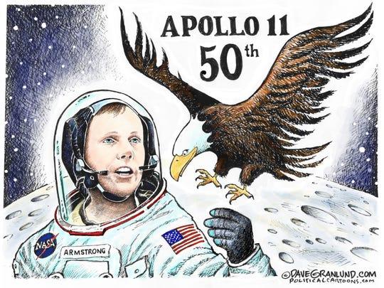 Moon landing anniversary.