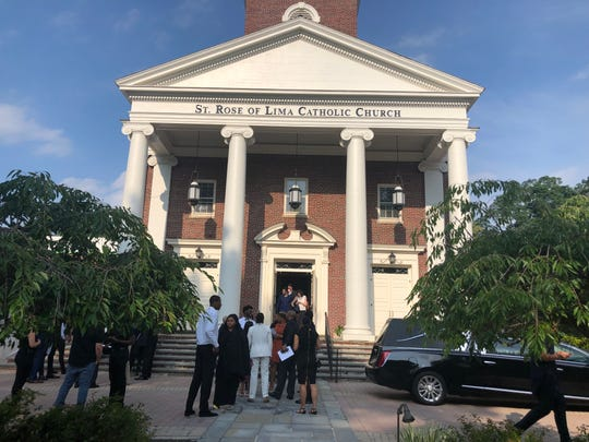 Calistus Anyichie, who drowned last weekend in Ithaca, N.Y., was remembered during services Friday, July 19, 2019 at St. Rose Lima Roman Catholic Church in Short Hills.