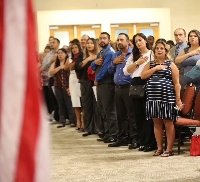 On Friday July 19, 2019, 187 people became United States citizens during a naturalization ceremony at the Las Cruces Convention Center.
