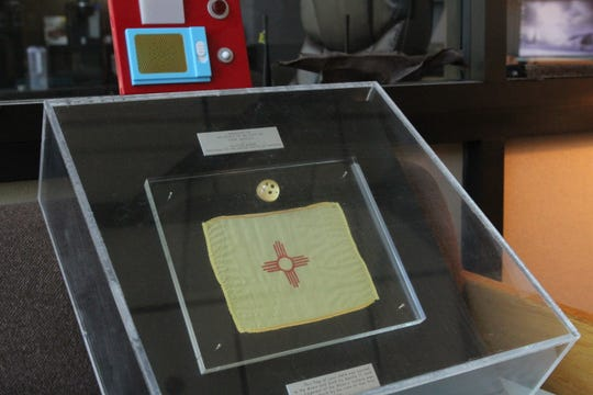 Fragments of rock samples collected from the Moon during the Apollo 11 mission are on loan to the New Mexico Museum of Space History in Alamogordo, New Mexico for the 50th anniversary of the Moon landing.