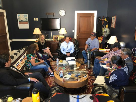 U.S. Rep. Ben Ray Luján met with a delegation from the Navajo Nation at his office in Washington, D.C. on July 16 to discuss proposed amendments to the Radiation Exposure Compensation Act.