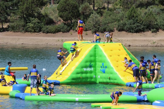 The Wibit Water Park draws a hug crowd since its opening last month, even more when governor Lujan-Grisham visits Ruidoso.