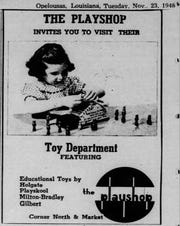 The Playshop ad that ran in the Daily World on November 23, 1948.
