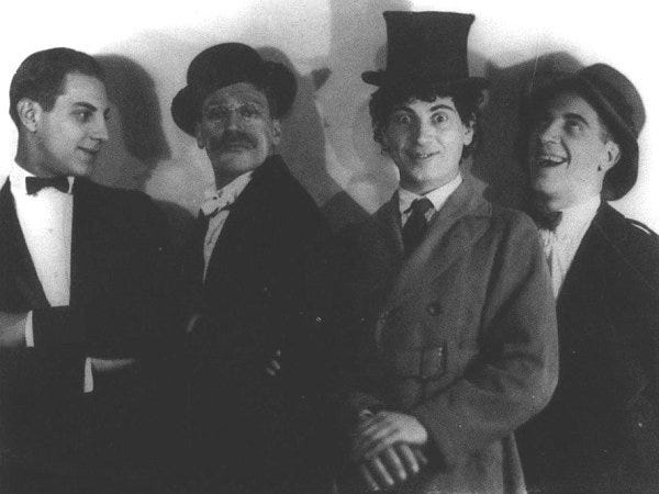 The Marx Brothers photographed in 1921. The iconic sibling had a big impact on the desert and Palm Springs.