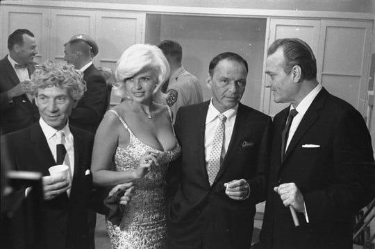 1962 Police Show, Harpo Marx, Jayne Mansfield, Frank Sinatra and Red Skelton.