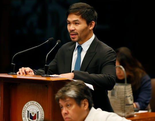 Manny Pacquiao es actual senador, y ya piensa convertirse en presidente de Filipinas.