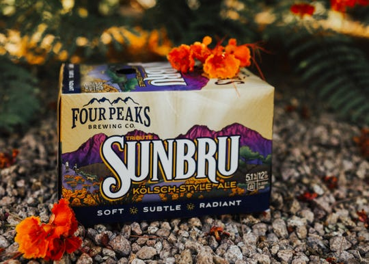 """Four Peaks describes its Sunbru as """"brilliantly clear, bright gold and subtly flavored."""""""