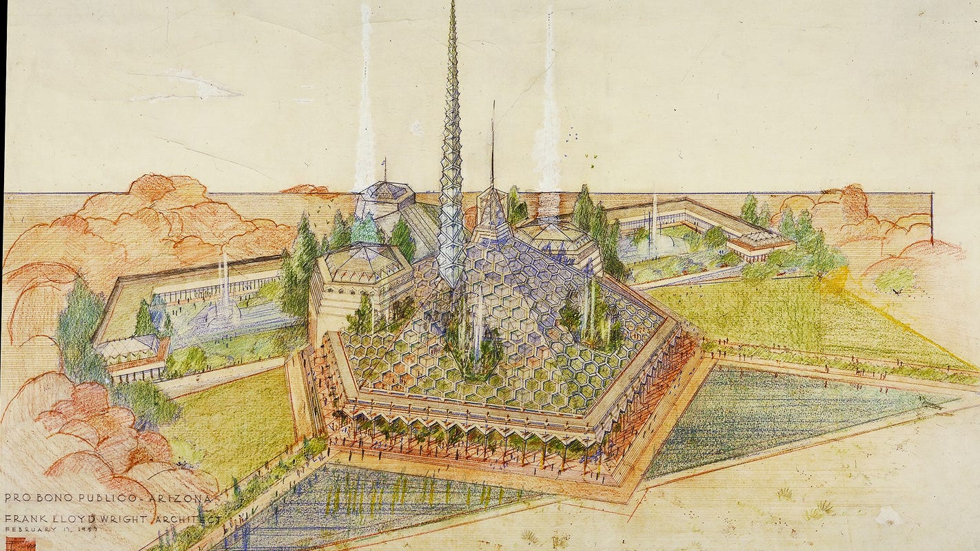 Why didn't Arizona use Frank Lloyd Wright's plans for its new capitol?