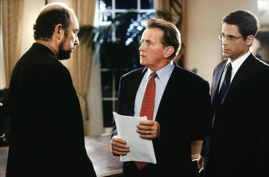 """Richard Schiff (from left), Martin Sheen and Rob Lowe star in """"The West Wing."""""""