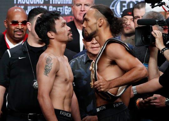 Manny Pacquiao se medirá al invicto Keith Thurman este sábado en Las Vegas.