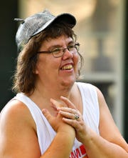 Director Michelle Norton, creative engine at  Upstart Arts, speaks to actors as rehearsal begins for A Midsummer Night's Dream in West Manchester Township, Thursday, July 18, 2019. Dawn J. Sagert photo