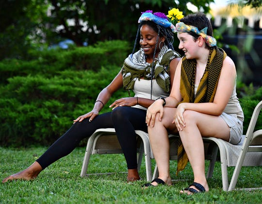 Upstart Arts rehearses A Midsummer Night's Dream in West Manchester Township, Thursday, July 18, 2019. Dawn J. Sagert photo