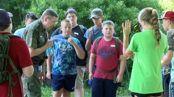 Kids across Pa. got a taste of what it's like to be a State Game Warden by going over crime scenes, learning woodland tracks and capturing animals.