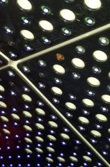 A ladybug was recently mistaken for a burnt out pixel on the Fremont Street Experience canopy.