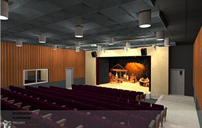 The new Riverfront Playhouse as designed by Trilogy Architecture