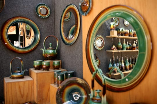 Ceramic art by James Diem at the Salem Art Fair and Festival at Bush's Pasture Park in Salem on July 19, 2019. The event continues through Sunday.