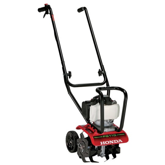 Rototillers are useful tools for incorporating organic matter and controlling persistent winter weeds before planting.