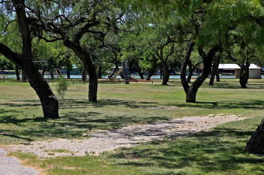 Pecan Creek Park and Pavilion features a boat ramp for easy access to Lake Nasworthy, two picnic areas and a sand volleyball court.