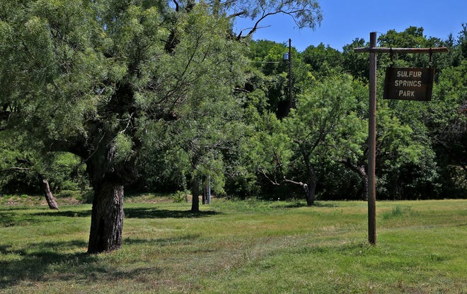 Tucked away in the Santa Rita neighborhood, Sulfur Springs Park has an area for fishing and a nature trail.