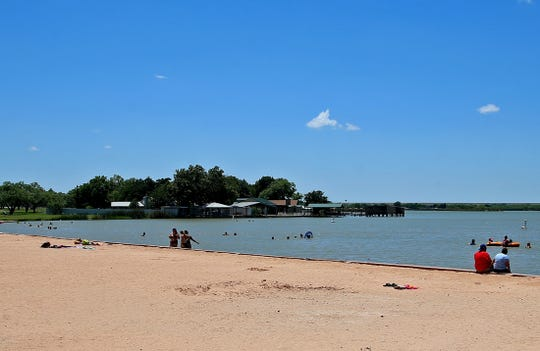 One of the most popular spots in the summer at Mary E. Lee Park is the beach swimming area.