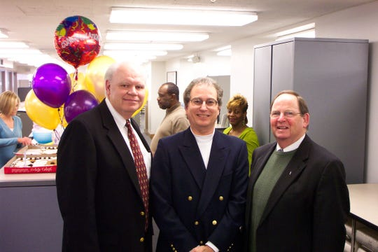 File photo: Gary Loftin (left), Mike Spence and Judge Charles Scott.