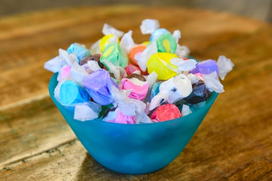 "Rushmore Mountain Taffy: Saltwater taffy created and sold at the Rushmore Mountain Taffy shop in Keystone with a recipe ""handed down by several generations of candy chefs."""