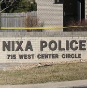 A file photo of a Nixa Police Department sign.