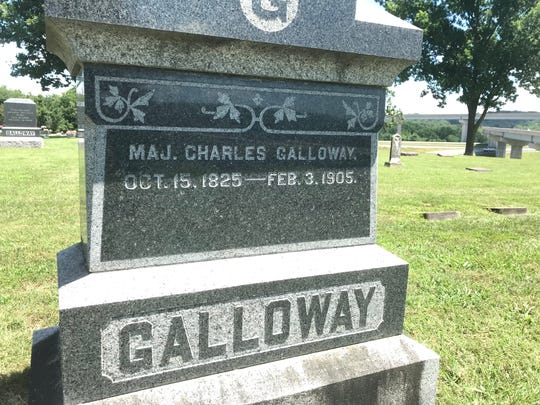 Major Charles Galloway, namesake of Galloway Village, is buried in the Old Gallery Cemetery near the James River Freeway.