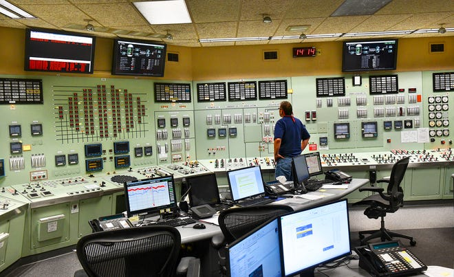 An operator keeps close watch on instruments in the control room Thursday, July 18, 2019, at Xcel Energy's Monticello Nuclear Generating Plant. Built in 1971, the plant employs about 650 people and generates 671 megawatts of power.