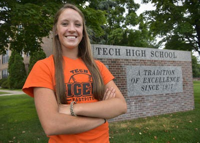 Sam Eisenreich was a three-sport athlete her senior year at St. Cloud Tech. The 2015 graduate played tennis, girls hockey and softball.