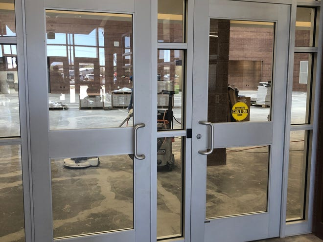 The new security doors after installation at Washington Fields Intermediate School.