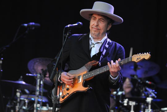 A picture taken in 2012 in France shows Bob Dylan performing at the Vieilles Charrues music festival. Press photography was not permitted for Dylan's Milwaukee show Oct. 26.