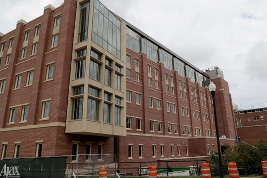 Construction continues on Florida State University's new Earth, Ocean and Atmospheric Science building at the corner of West Tennessee and North Woodward Avenue Friday, July 19, 2019.