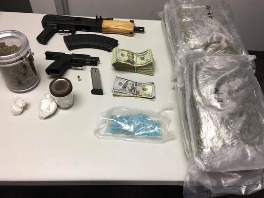 Drugs and guns seized from Christopher Deshazier's home