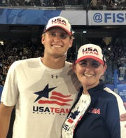 USC sophomore Jake Ehrhardt and Rio Mesa High and Ventura College water polo coach Linda Wright were part of the U.S. men's national team that won the silver medal at the World University Games in Italy on Sunday.